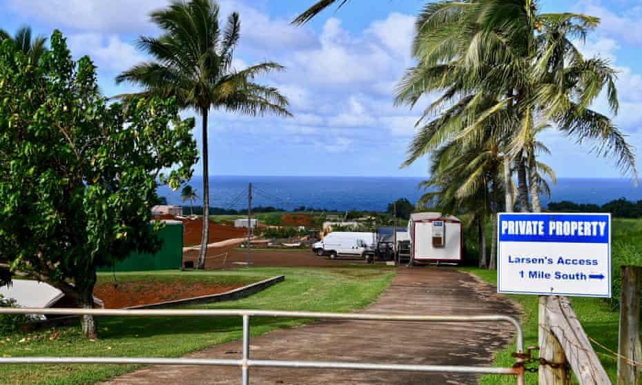 A view of Mark Zuckerberg's Kauai estate. Some Native Hawaiians declared the Facebook CEO the 'face of neocolonialism'.