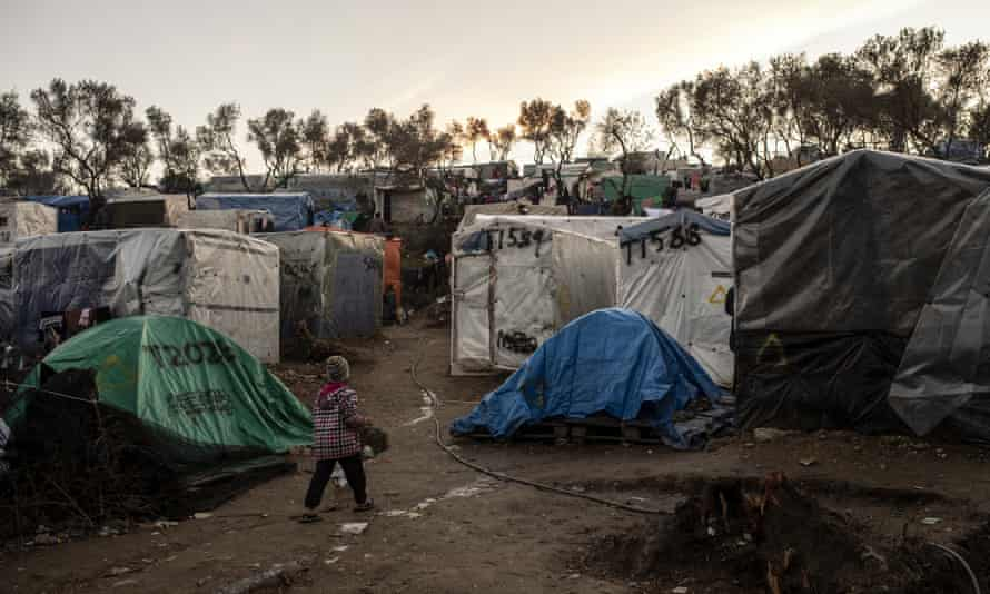 The Moria refugee camp on the Greek island of Lesbos held more than 20,000 migrants from Afghanistan, Syria and Iraq before it burned down last summer.