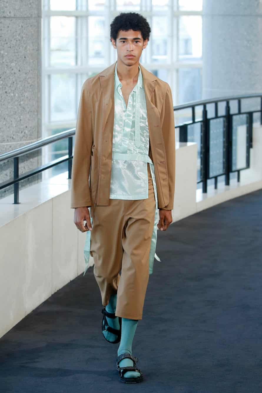 Socks with sandals at the Sies Marjan show, Paris Men's fashion week, Spring/Summer 2020