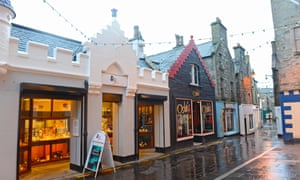 Shops along Commercial Street Lerwick