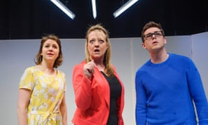 Gemma Whelan, Amanda Daniels and Sean Michael Verey in Radiant Vermin by Philip Ridley: a darkly hilarious and unsettling play about the housing crisis.