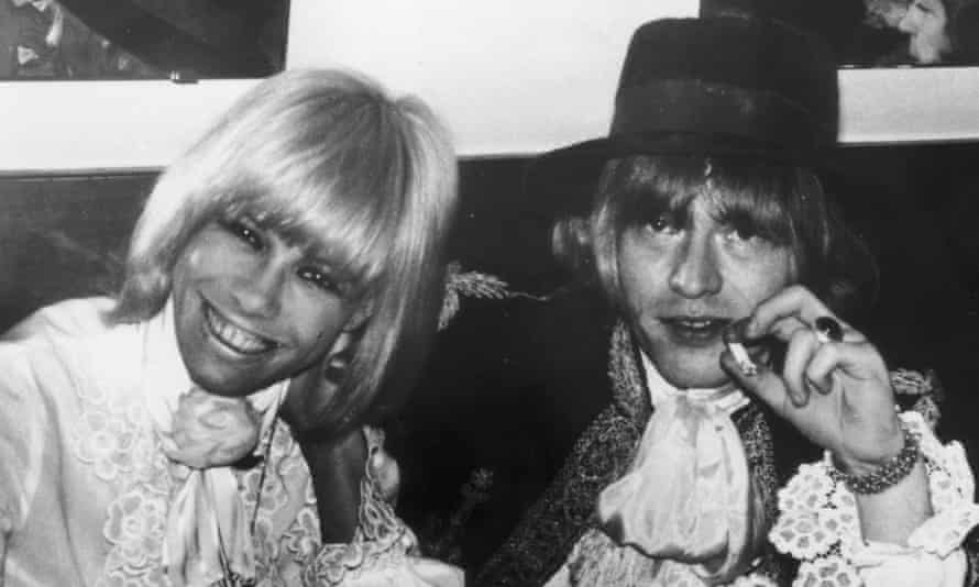 Anita Pallenberg and Brian Jones at a party in 1967.