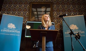 Esther McVey at her Westminster launch event for Blue Collar Conservatism