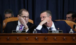 Jerry Nadler, chairman of the House judiciary committee, and ranking member Doug Collins, a Republican, in Washington DC on 4 December.
