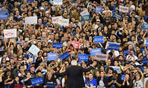 Sanders addresses a rally in Carson, California last year.