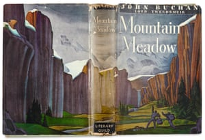 The cover of the book Mountain Meadow by John Buchan illustrated by Rockwell Kent.