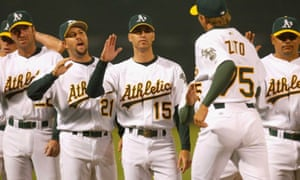 The 2002 A's were led not by obscure, unheralded journeymen, but by three great starters: Mark Mulder, Tim Hudson, and Barry Zito.