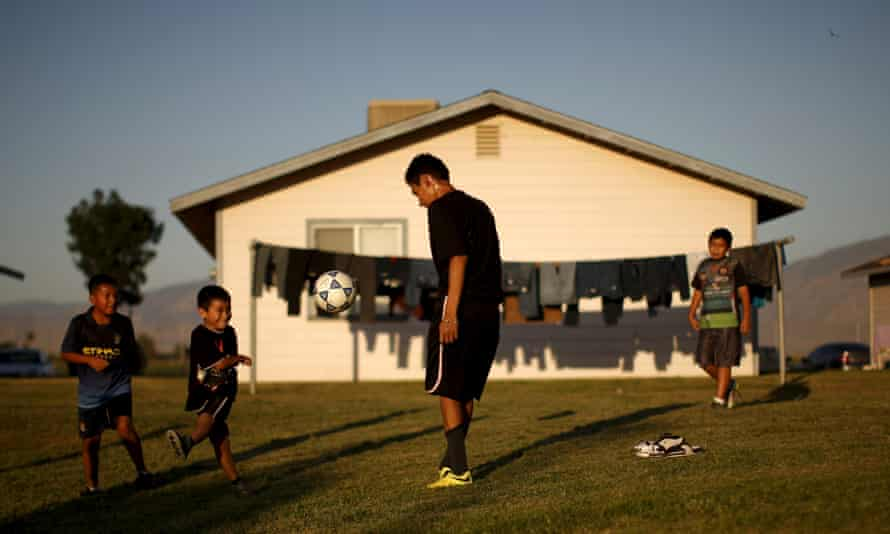 Children play soccer in Bakersfield, California. The talents of some of America's best young players are being suffocated by a process that never lets them be seen.