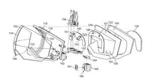 Apple's patent for a 'goggle system' for personal media viewing.
