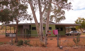Part of an Aboriginal town camp on the outskirts of Alice Springs, Australia.