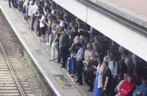 Commuters at Clapham Junction station.