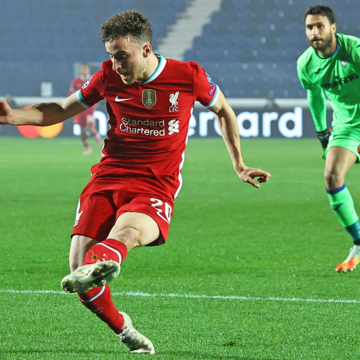 diogo jota hits superb hat trick for liverpool in demolition of atalanta football the guardian diogo jota hits superb hat trick for
