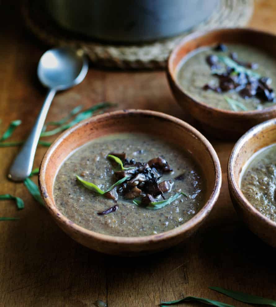 Tom Hunt's mushroom and 'spent' vanilla bean soup