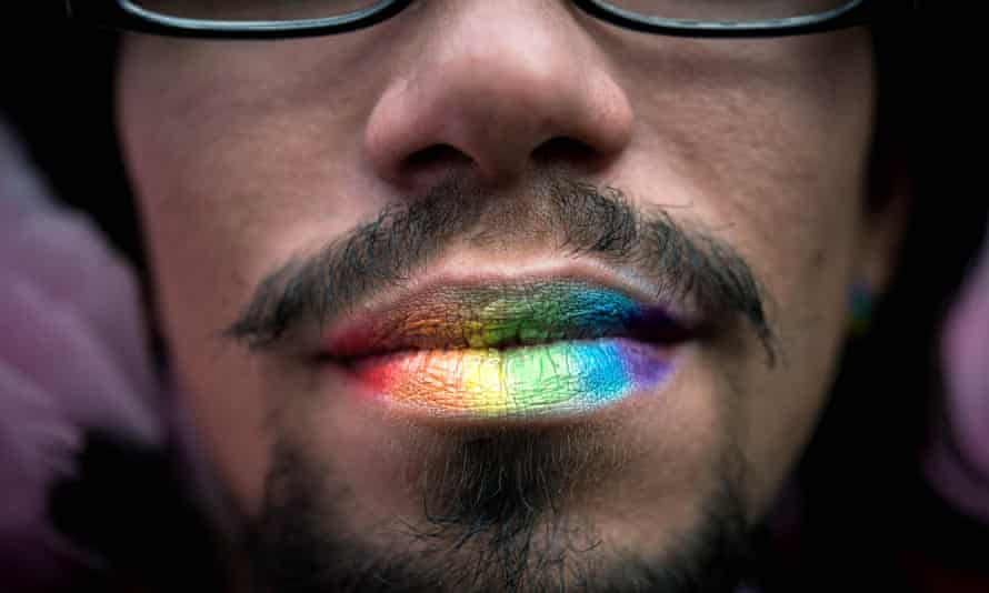 An attendee of São Paulo's gay pride parade. Despite Brazil's inclusive image, the country has a strong conservative streak.