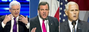 Trump has spent much of the last week, holding de facto auditions with three contenders: Mike Pence, New Jersey governor Chris Christie and former House speaker Newt Gingrich.