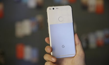 Google Pixel back of phone