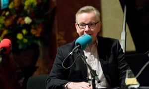 Michael Gove speaks to BBC Radio 4 presenter John Humphrys at Wigmore Hall in central London.