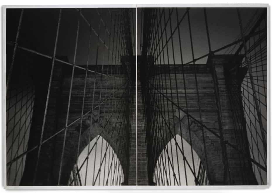 A spread from the photobook Brooklyn Bridge