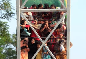 Rawalpindi, Pakistan People enjoy a fairground ride during the Eid al-Fitr holiday