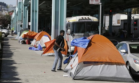 'If it was my front yard, I wouldn't want to see this either. But you can't keep running your problem from this side of town to another side of town. You have to just deal with it where it is,' said a part-time bartender who is homeless.