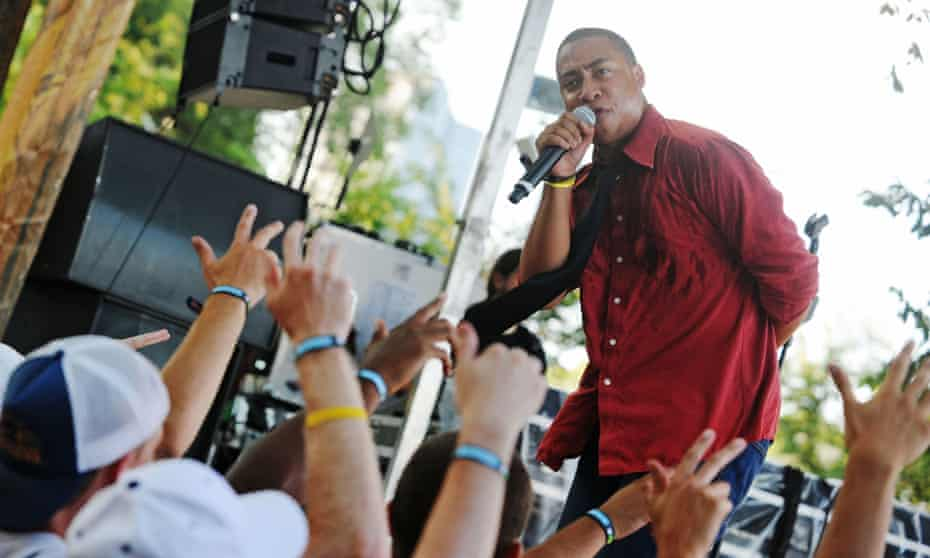 Cadence Weapon performs at the 2008 Lollapalooza music festival in Chicago.