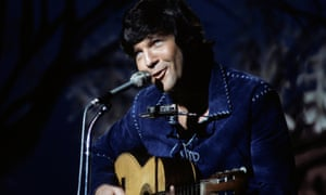 Tony Joe White, nicknamed the 'Swamp Fox', on the Johnny Cash Show, 1970.