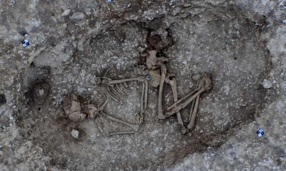 One of the two Beaker-period burials found near the site of the proposed Stonehenge road tunnel