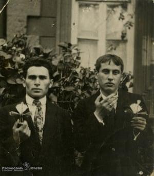 16. Valerian Gafrindashvili and Titsian Tabidze, 1916 (Courtesy of Literature Museum of Georgia)