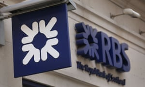 Sign on Royal Bank of Scotland branch