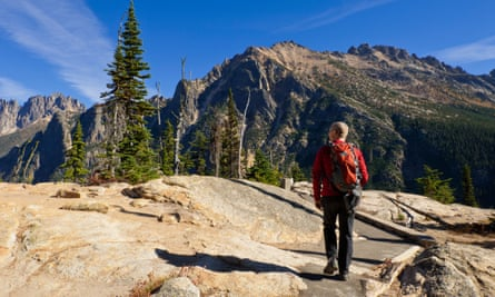 Hiking in the Wenatchee national forest, Washington state.
