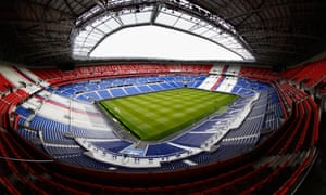 Stade de Lyon - the home of Ligue 1 club Lyon and where this season's Europa League final will take place on 16 May