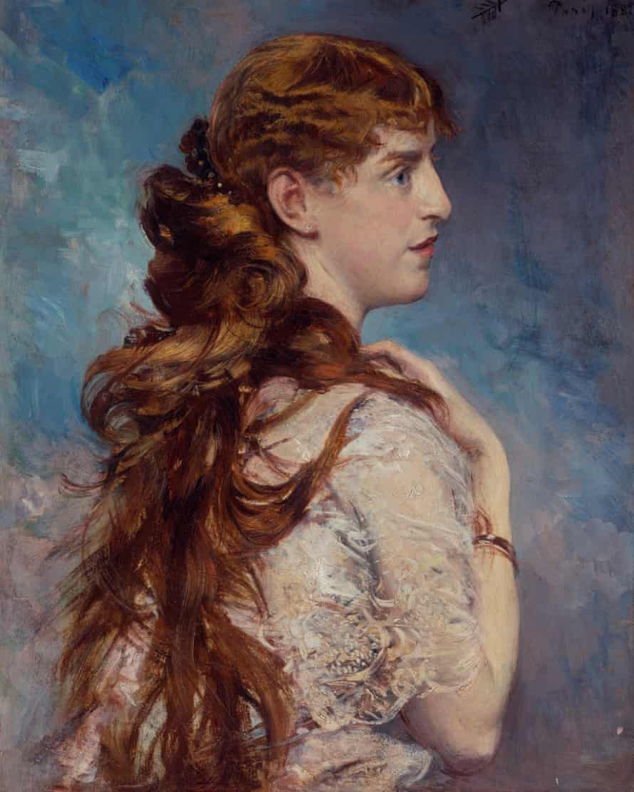 A portrait of Harriet Crocker painted by Giovanni Boldini in 1887.