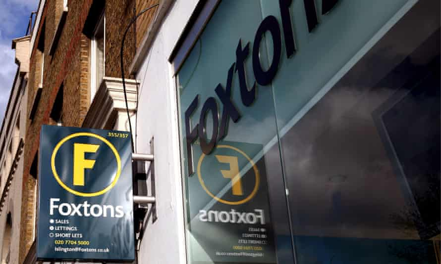 A Foxtons sign next to a branch