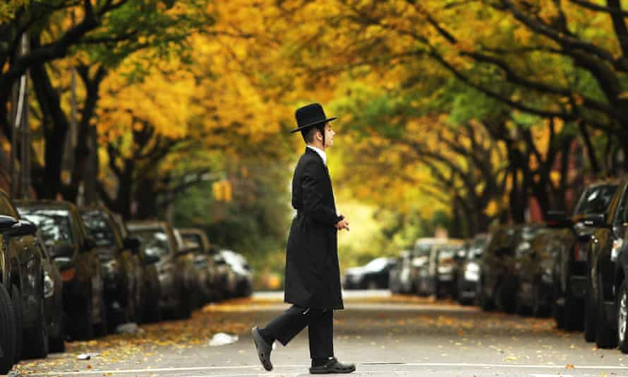 A member of an Orthodox Jewish community in Williamsburg, Brooklyn.