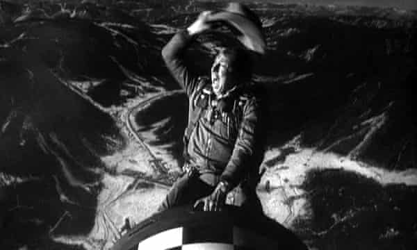 Absurdly serious … Slim Pickens as the B-52 pilot in Stanley Kubrick's Dr Strangelove (1963).