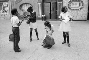 Four Children at Lenox Avenue, Harlem, NY, 1977