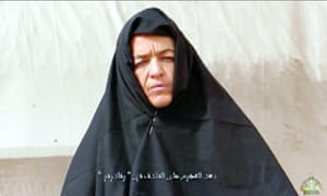 Still from an Islamist video apparently showing Swiss woman Beatrice Stockly.