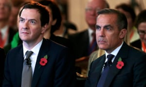 George Osborne and Bank of England governor Mark Carney in 2015