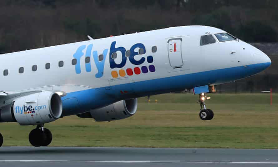 A Flybe plane takes off from Manchester airport