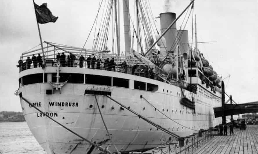 The boat the Empire Windrush in 1954.