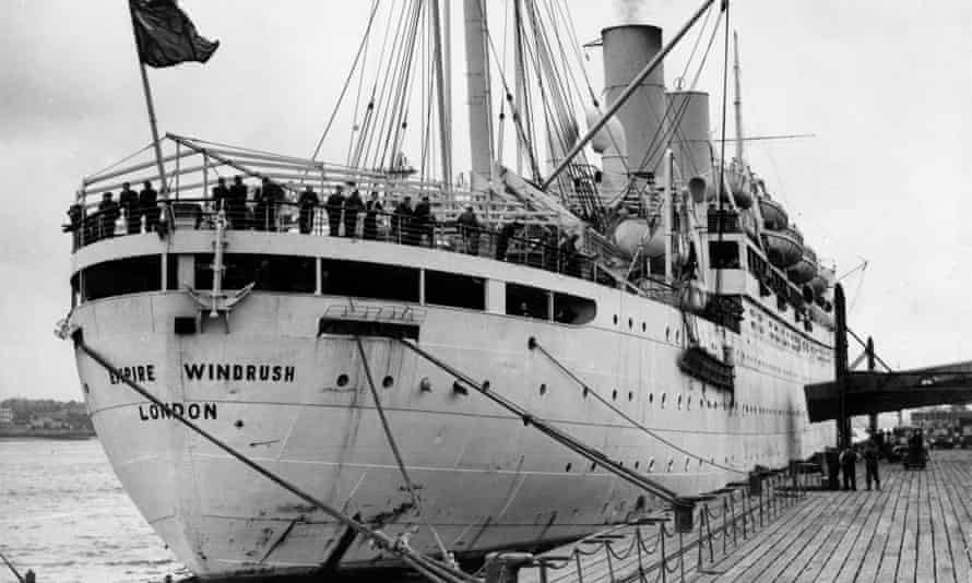 The Empire Windrush, an ex-troop ship on which Jamaican immigrants travelled to Britain in the late 40s and early 50s.