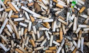Cigarette butts.