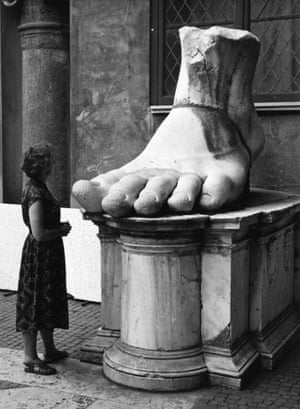 Fragment of the colossal statue of Constantine the Great, Palazzo dei Conservatori, 1954