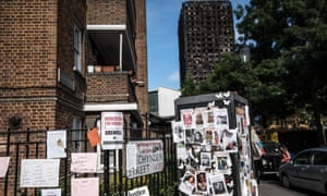 Missing posters near the Grenfell Tower as residents struggle to find out who lived and who died.