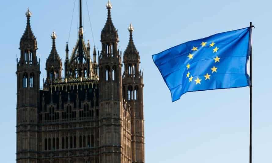 EU flag near Parliament