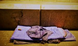 An empty sleeping bag