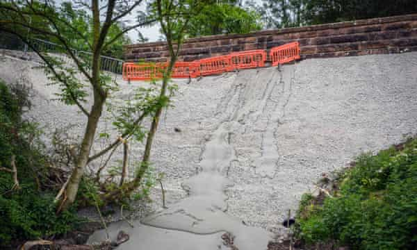 The concrete infill at Cumbria was to be the start of nationwide programme to fill more than 100 historic structures.