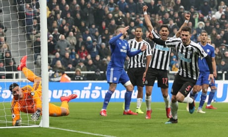 Newcastle out of bottom three as Fabian Schär sinks Cardiff City