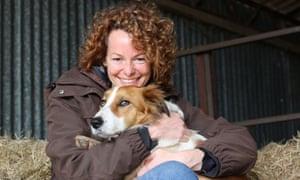 Kate Humble with dog Teg