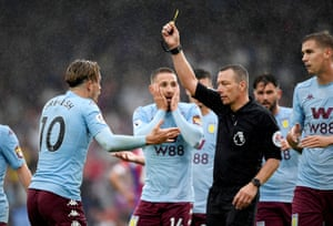 Aston Villa's Jack Grealish protested his innocence and team-mate Conor Hourihane looked like the man from Edvard Munch's The Scream as Villa's late equaliser was disallowed against Crystal Palace. The referee Kevin Friend controversially ruled that Grealish had dived in the build-up to Henri Lansbury's strike. Palace held on to win the match 1-0.